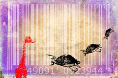Giraffe barcode animal design art idea Stock Image