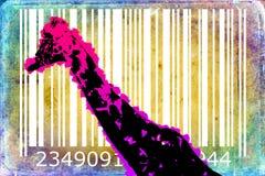 Giraffe barcode animal design art idea Royalty Free Stock Photos