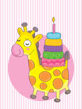 Giraffe Birthday_eps Royalty Free Stock Images