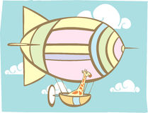 Giraffe Blimp Stock Images