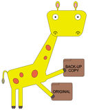 Giraffe can backup Stock Photography