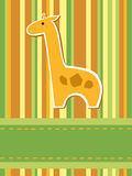 Giraffe card Stock Photography