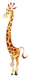 Giraffe, cartoon character Stock Photos