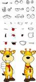 Giraffe cartoon expressions set bad Royalty Free Stock Photo
