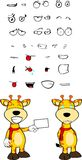 Giraffe cartoon expressions set card Stock Image