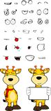 Giraffe cartoon expressions set copyspace Stock Images