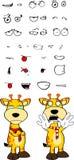 Giraffe cartoon expressions set crying Stock Image