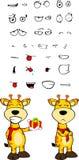 Giraffe cartoon expressions set Stock Photos