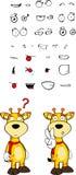 Giraffe cartoon expressions set 2 Stock Photos