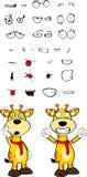 Giraffe cartoon expressions set winner Royalty Free Stock Image