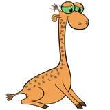 Giraffe Cartoon Vector Illustration Royalty Free Stock Photos