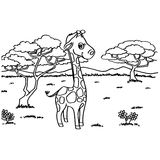 Giraffe Coloring Pages vector Royalty Free Stock Image