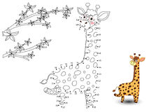 Giraffe Connect The Dots And Color Royalty Free Stock Images