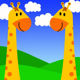 Giraffe couple Royalty Free Stock Photo