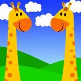 Giraffe couple stock illustration