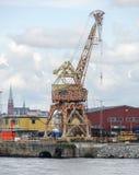 Giraffe crane in Stockholm Stock Images