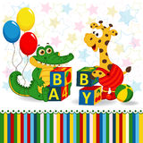 Giraffe and crocodile baby blocks Stock Images