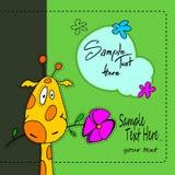 Giraffe cute baby  illustration cartoon animal zoo art fun safari funny Stock Photos