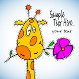 Giraffe cute baby  illustration cartoon animal zoo art fun safari funny Royalty Free Stock Photography