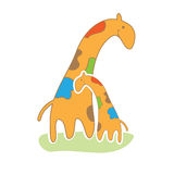 Giraffe in cute style vector illustration Royalty Free Stock Photos