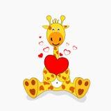 Giraffe dans l'amour illustration libre de droits