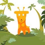 Giraffe dans la forêt Photo libre de droits