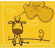 Giraffe de chéri Illustration Stock