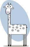 Giraffe de dessin animé en noir et blanc Photos libres de droits