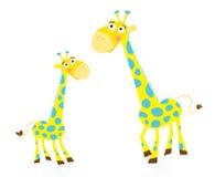 giraffe de famille illustration de vecteur