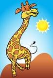 Giraffe with Desert Background Stock Image