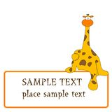 Giraffe design Royalty Free Stock Photo