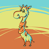 Giraffe drôle Photo stock