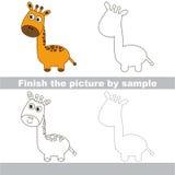 Giraffe. Drawing worksheet. Royalty Free Stock Photos