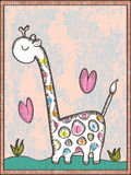 Giraffe Drawn_eps Royalty Free Stock Images