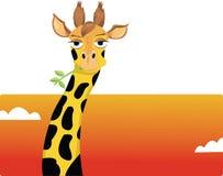 Giraffe engraçado ilustração do vetor