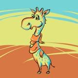 Giraffe engraçado Foto de Stock