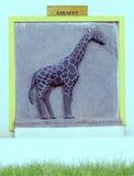 Giraffe engraving Royalty Free Stock Images