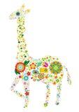 Giraffe florale illustration libre de droits