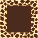 Giraffe frame Stock Image
