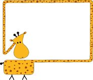 Giraffe frame Stock Photography