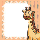Giraffe and frame texture illustrator background Stock Photography