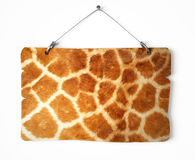 Giraffe fur notice board Stock Photos