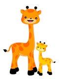 Giraffe/Giraffen Stockfoto
