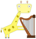 Giraffe the harpist Stock Photo