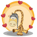 Giraffe with hearts Royalty Free Stock Photo