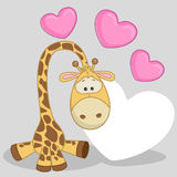 Giraffe with hearts Royalty Free Stock Photos
