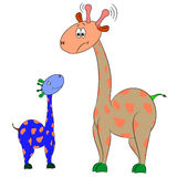 Giraffe illustration. Character cartoon comic funny Royalty Free Stock Photos