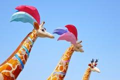 Giraffe lantern. S in Lantern Festival celebration Stock Images