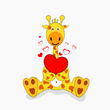 Giraffe in love royalty free illustration