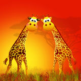 Giraffe in love Royalty Free Stock Images